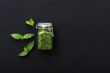 Homemade Pesto Sauce And Green...