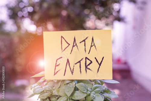 Photo  Handwriting text writing Data Entry