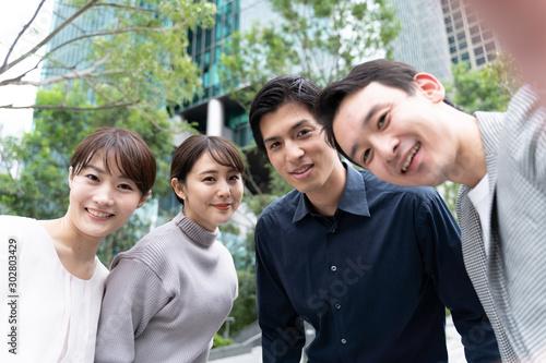 Valokuva  男女グループ