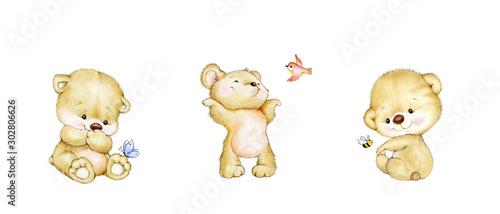 Set of three cute baby Teddy bears