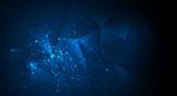 Fototapeta Łazienka - Abstract futuristic - Molecules technology background. Illustration Vector Geometric, Polygonal, Triangle pattern in molecule structure shape. Digital Futuristic, communication, Technology concept