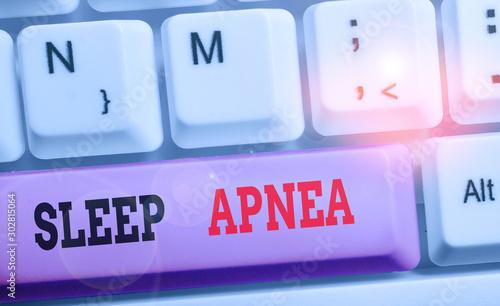Photo Writing note showing Sleep Apnea