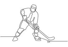 Ice Hockey Player. One Continu...