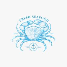 Crab Vintage Label