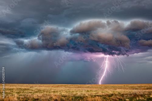 Lightning storm Slika na platnu