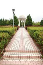 White Rotunda In Public Park I...