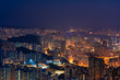 Epic Night of Kowloon, residential and downtown area, Hong Kong