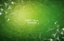 Abstract Green Geometric Polyg...