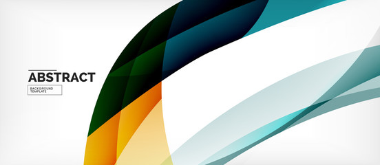 FototapetaColorful wave lines abstract background, color line for business or techno presentation