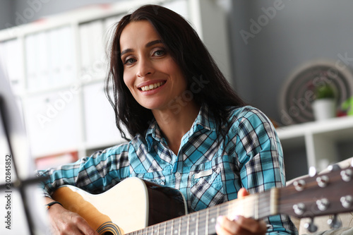 Fotografie, Obraz  Lady with sensual smile