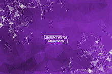 Abstract Purple Geometric Poly...