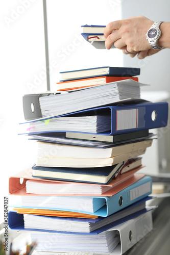 Fotografía  Stack of paper folders