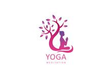 Yoga Logo Design Stock. Human ...