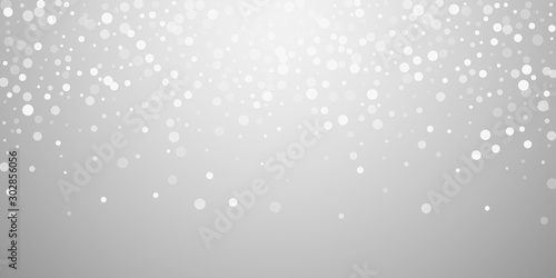 Obraz White dots Christmas background. Subtle flying sno - fototapety do salonu
