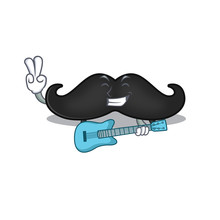 With Guitar Mustache With In T...