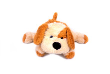Isolated Dog Doll On White Bac...