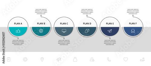 Cuadros en Lienzo  Vector flat infographic template