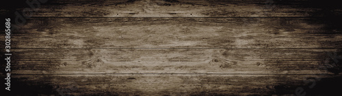old brown rustic dark brown wooden texture - wood background panorama banner long