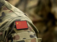 Flag Of China On Military Unif...