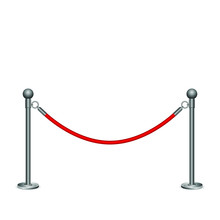Barrier Rope Vector Design Ill...