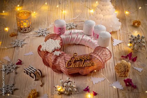 Advent calendar wreath #302872610