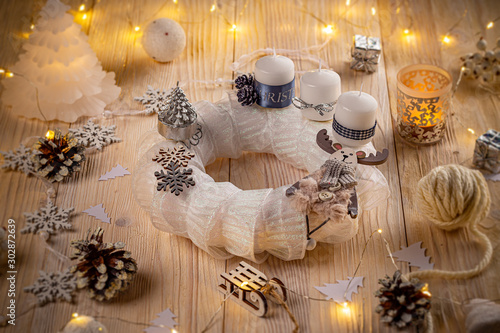 White advent wreath #302872639