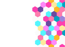 Honeycomb Colorful Background. Vector Illustration For Poster.