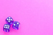 canvas print picture - Gambling dices on a pink background.