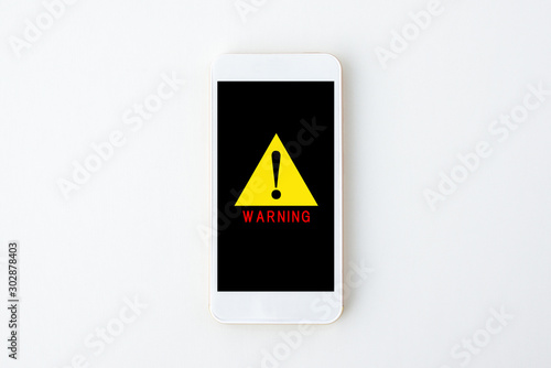 スマホの警告サイン Canvas Print
