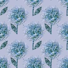 Glitter Flowers Seamless Pattern