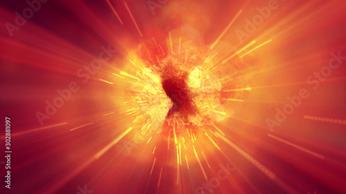 Obraz explosion fire abstract background texture - fototapety do salonu