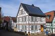 Typisches Fachwerkhaus in der Altstadt von Idstein/Deutschland