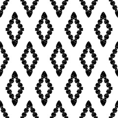 FototapetaEthnic boho seamless pattern. Lace. Embroidery on fabric. Patchwork texture. Weaving. Traditional ornament. Tribal pattern. Folk motif. Vector illustration for web design or print.