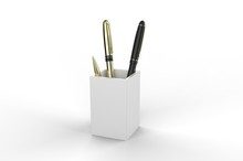 Wood Desk Pen Pencil Holder St...