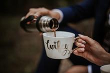 Kawa, Piknik, Kubek, Mąż, żona, Termos, Razem