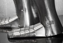 Old Knife Steel Shoes Background