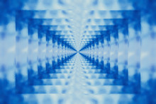 Blue Abstract Glass Tunnel Bac...