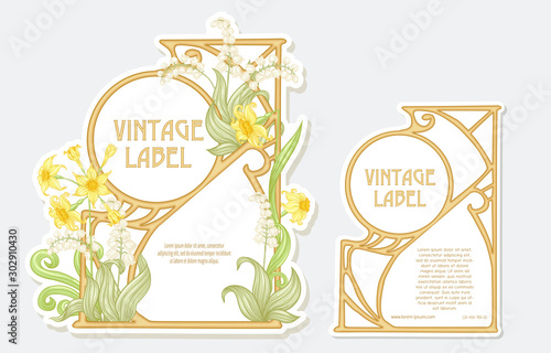 Carta da parati Narcissus, lily of the valley