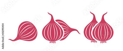 Fototapeta Onion logo. Isolated onion on white background obraz