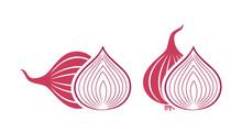 Onion Logo. Isolated Onion On ...