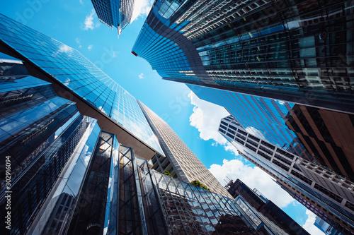 Modern skyscrapers shot with perspective Fototapeta