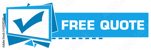 Cuadros en Lienzo Free Quote Blue Squares Triangles Text Horizontal