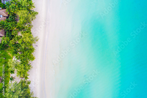 Foto auf AluDibond Turkis Aerial view sea beach turquoise water nature landscape