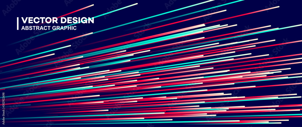 Fototapety, obrazy: Abstract colorful lines vector background, stylish color background illustration