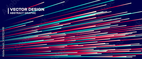 Photo  Abstract colorful lines vector background, stylish color background illustration