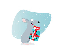 Rat Gift New Year 2020 Illustr...