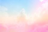 Fototapeta Tęcza - Soft Cloud sky subtle background pastel gradient color for sky cloud nature abstract background .