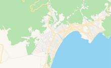 Printable Street Map Of Caraguatatuba, Brazil