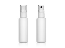 Plastic Spray Bottles Isolated On White Background