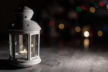 Lantern On Christmas Colorful ...